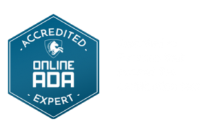 Accredited Expert Badge is awarded to persons that pass the WCAG Guidelines test by Online ADA